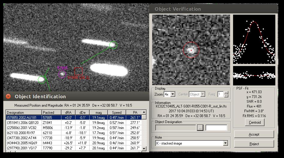 Asteroid 2002 AU181