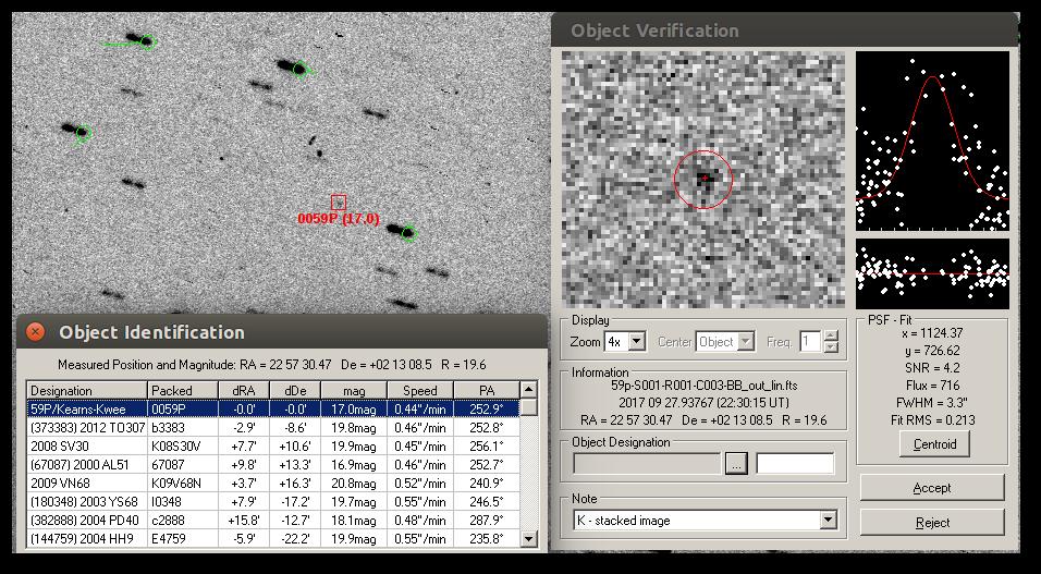 Comet 59p / Kearns-Kwee